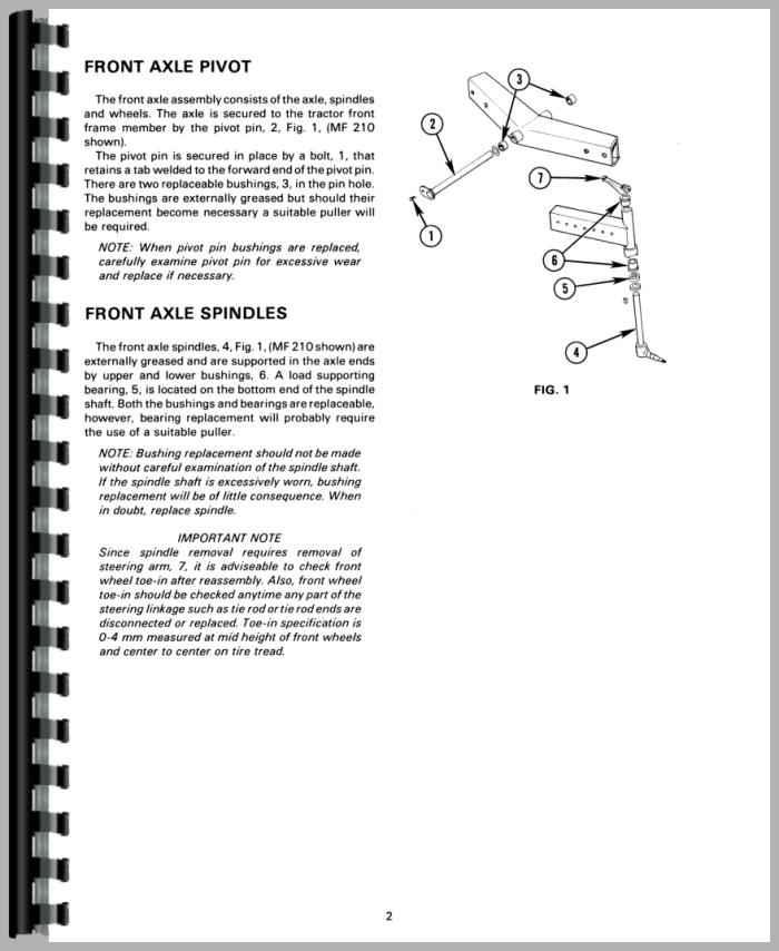 massey ferguson 210 tractor service manual rh agkits com Massey Ferguson 205 4 Parts Massey Ferguson 205 4 Parts