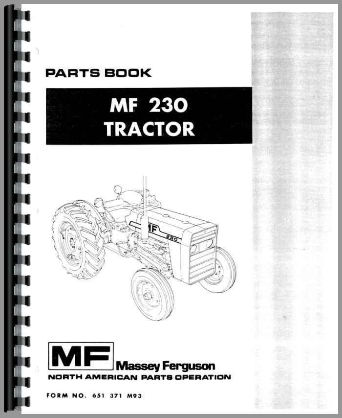 massey ferguson 230 tractor parts manual rh agkits com massey ferguson 230 service manual massey ferguson 230 repair manual