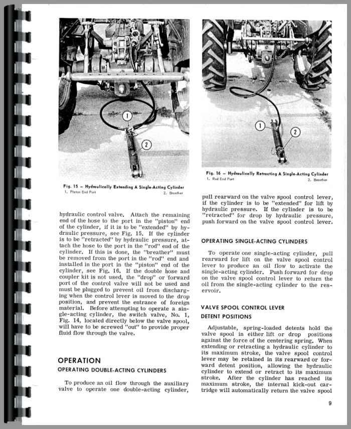Massey Ferguson 180 Hydraulic System Operators Manual Tractors ...