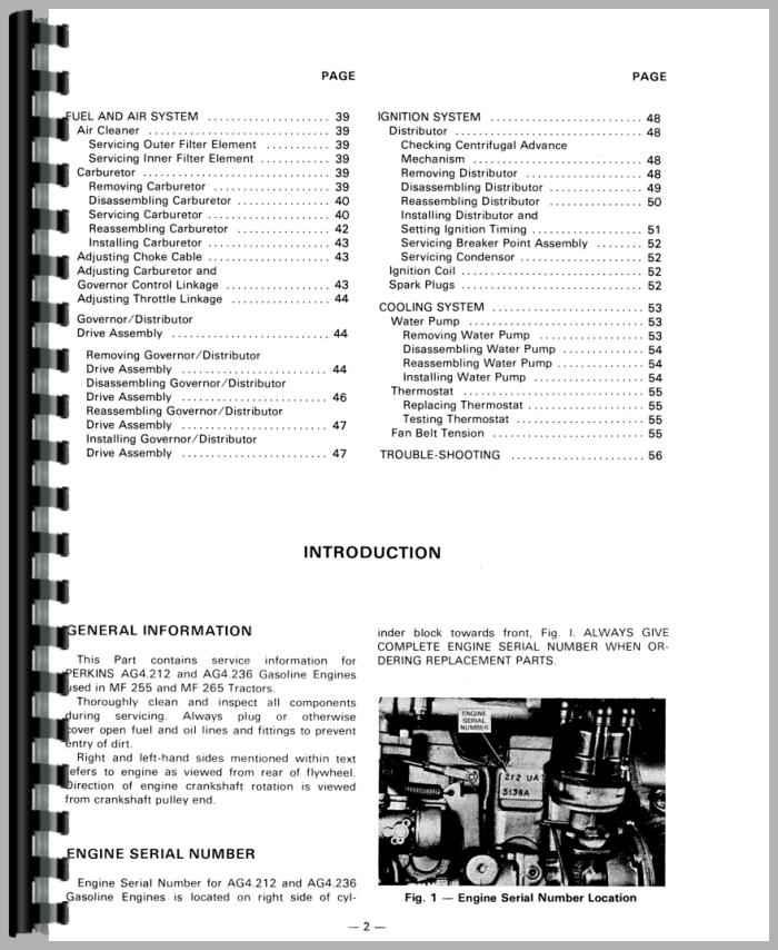 massey ferguson 255 tractor service manual rh agkits com massey ferguson 255 manual free massey ferguson 255 operator's manual