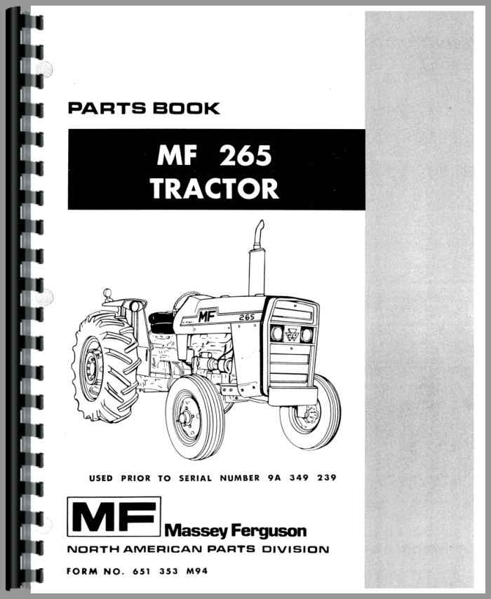 massey ferguson 265 tractor parts manual rh agkits com massey ferguson 265 manual download massey ferguson 265 manual pdf