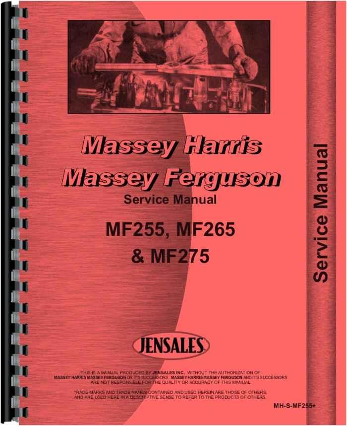 massey ferguson 275 tractor service manual rh agkits com MF Tractors MF Tractors