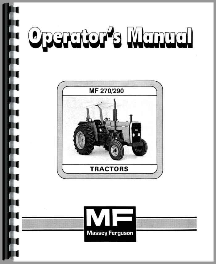 massey ferguson 290 tractor operators manual rh agkits com massey ferguson operators manual massey ferguson operators manual