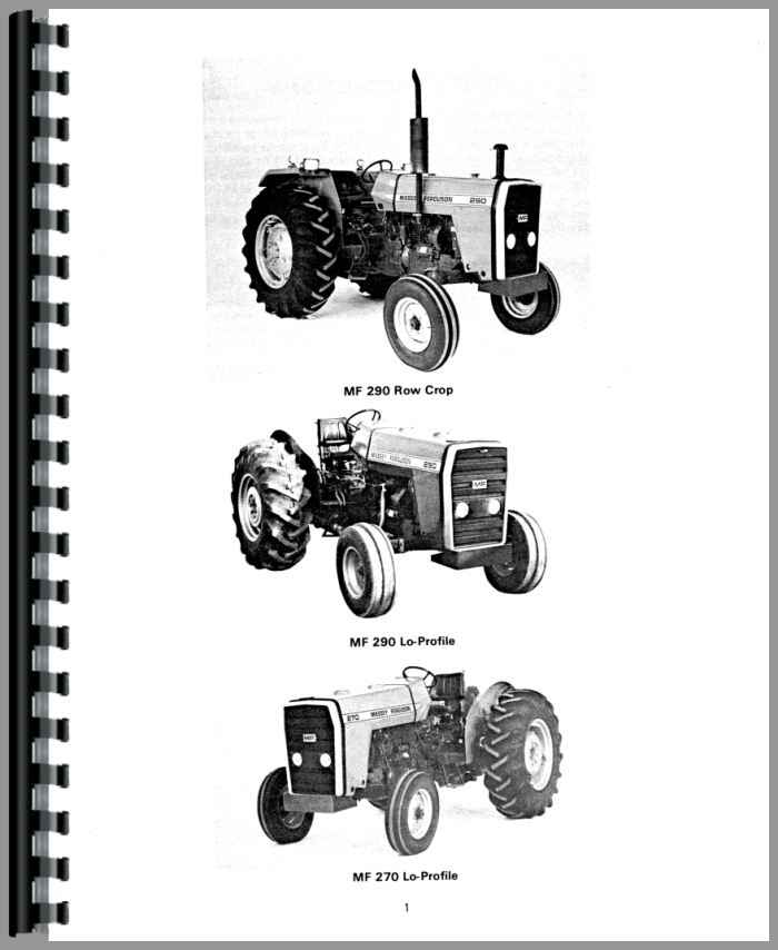 massey ferguson 290 tractor operators manual