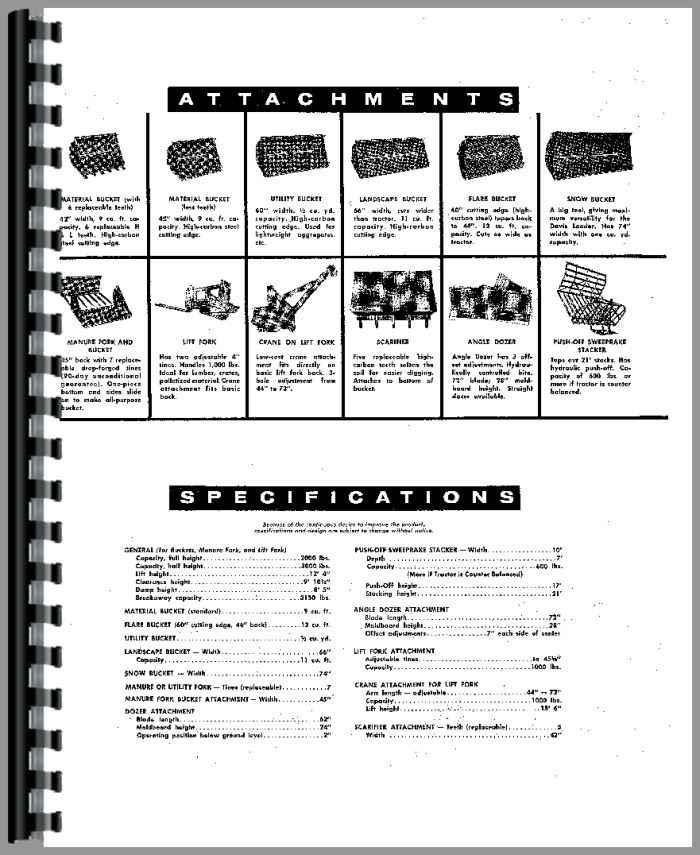Ferguson TEA20-85 Loader Attachment Service Manual (HTDA-S101102)