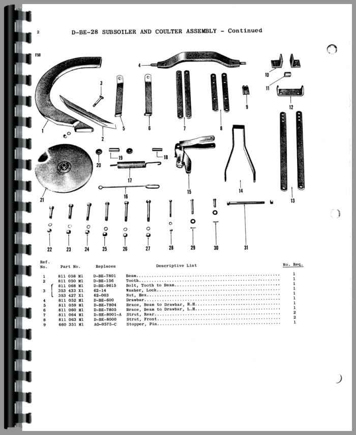 ferguson to20 tractor parts manual