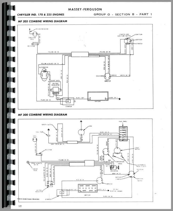 harris motorcycle wiring diagram massey harris all continental g176, gb176, g206 service manual harris wiring diagram #7