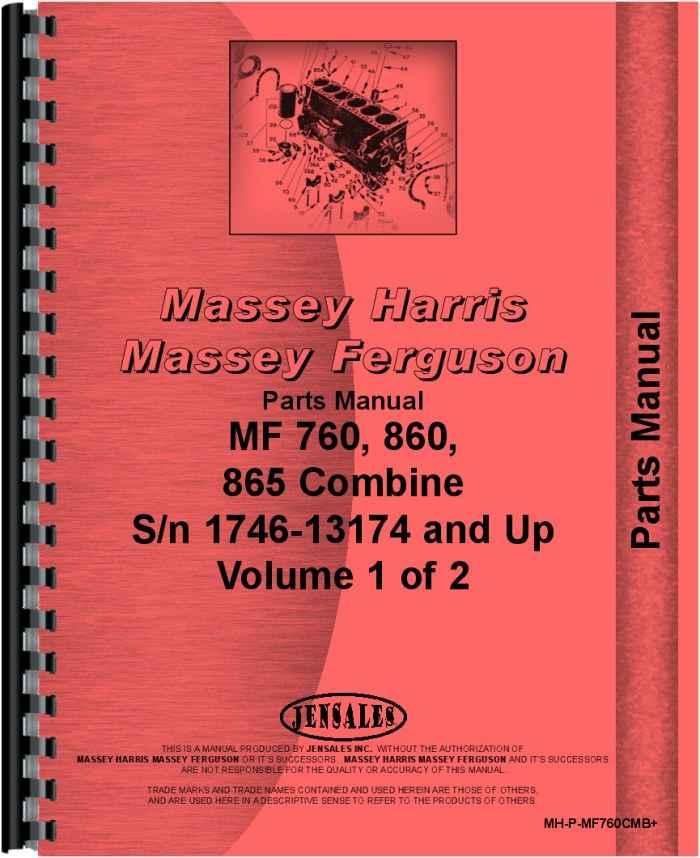 Massey Ferguson Part Numbers : Massey ferguson combine parts manual
