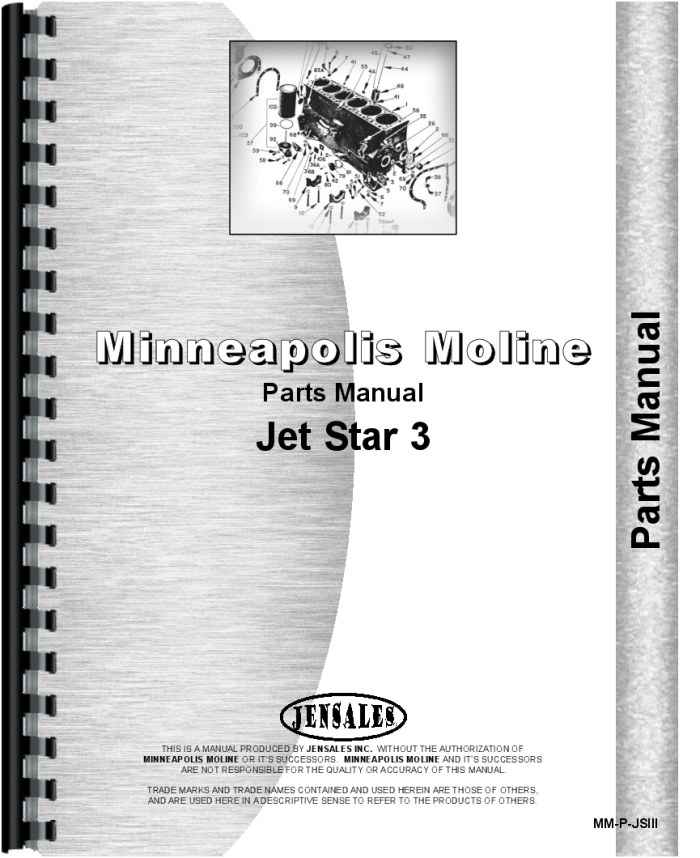 minneapolis moline jet 3 tractor parts manual
