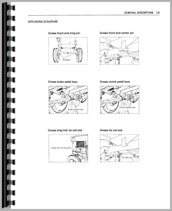 mitsubishi d1300fd tractor service manual