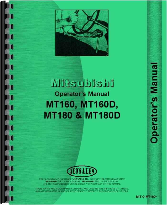 mitsubishi mt180 tractor operators manual rh agkits com mitsubishi canter operator's manual mitsubishi operators manual puhy-p96y-jmu-a