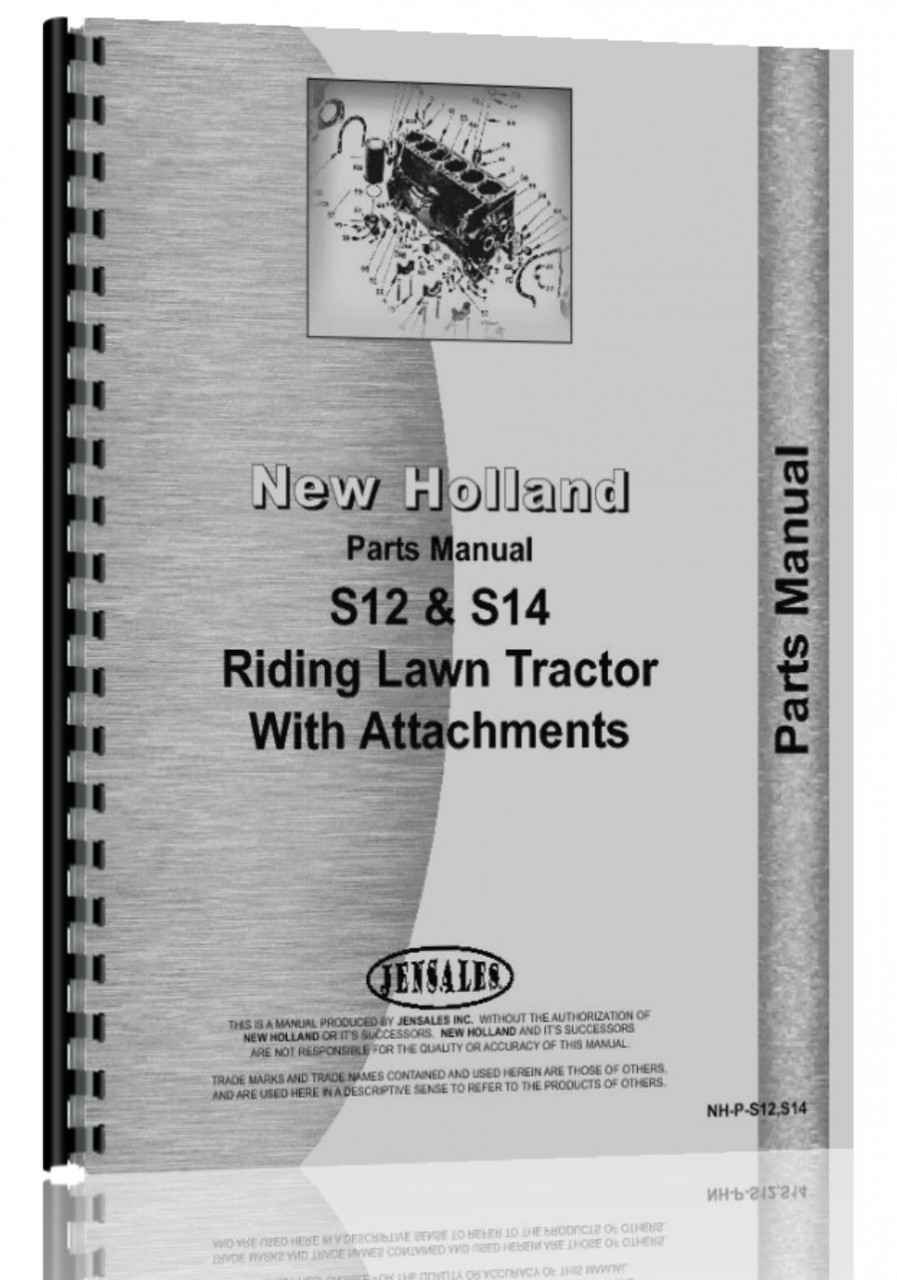 New Holland Tractor Manuals : New holland s lawn garden tractor parts manual