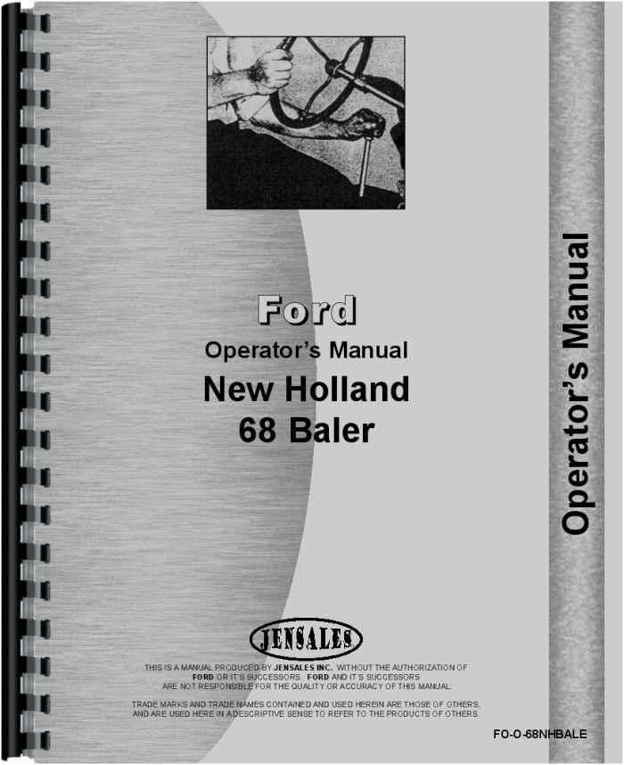 new holland 68 baler operators manual rh agkits com new holland 658 baler manual new holland 658 baler manual
