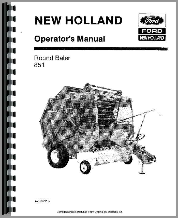 new holland 851 baler operators manual 851 New Holland Service Manuals Sperry New Holland 851