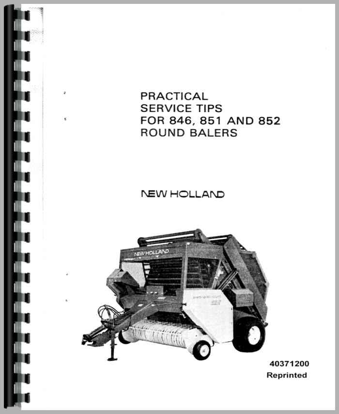new holland 851 baler service manual