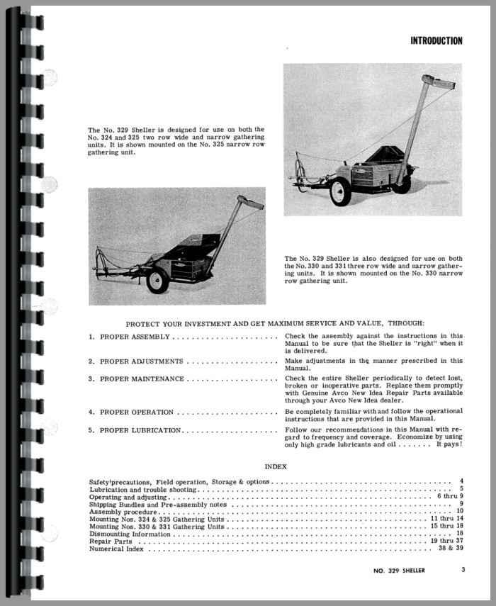New Idea 5209 Parts List