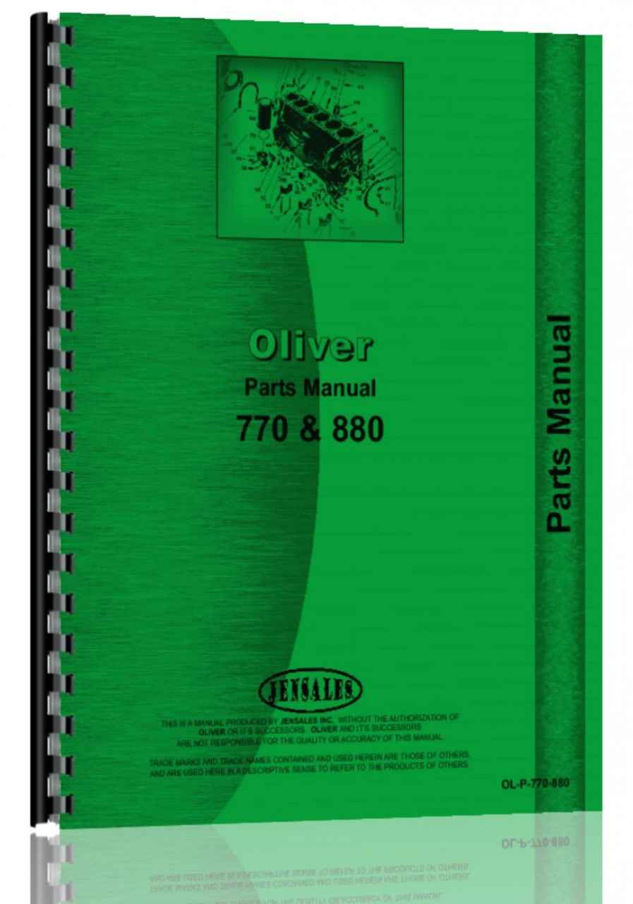 oliver 880 tractor parts manual rh agkits com Oliver 770 Oliver 880 Battery