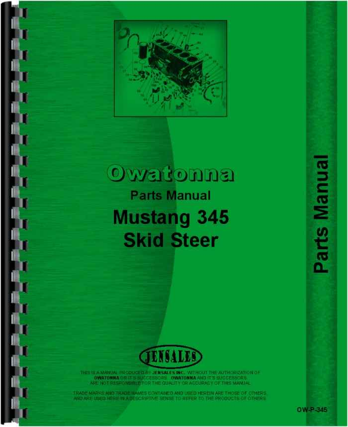 Owatonna 345 Skid Steer Loader Parts Manual (HTOW-P345)