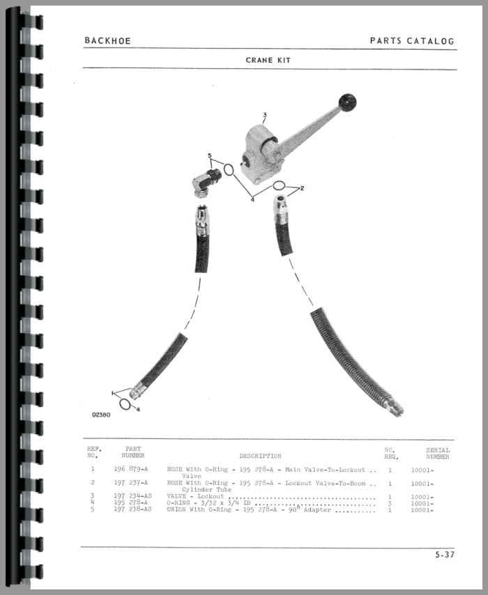 Oliver 1615 Backhoe Attachment Parts Manual on