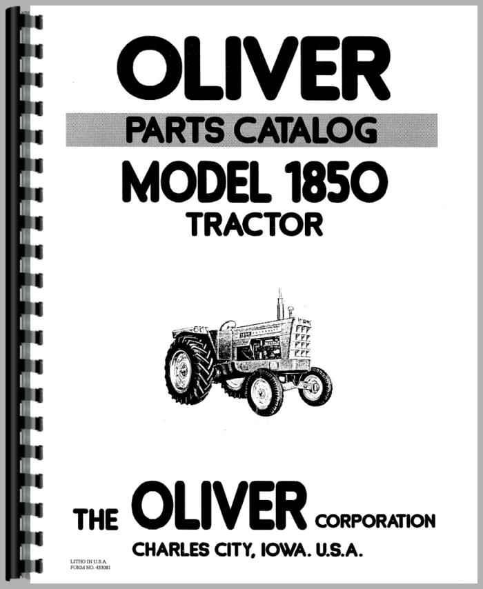 oliver 1850 tractor parts manual. Black Bedroom Furniture Sets. Home Design Ideas