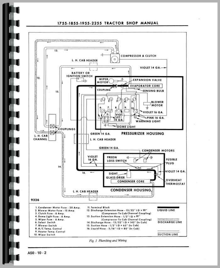 Oliver 1955 Tractor Service Manual (HTOL-S17551855) on ferguson ignition switch wiring, ferguson to 20 wiring-diagram, ferguson tractor wiring diagram, ferguson to20 no spark,