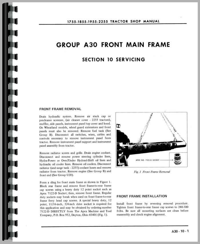 Oliver 2255 Tractor Service Manual on