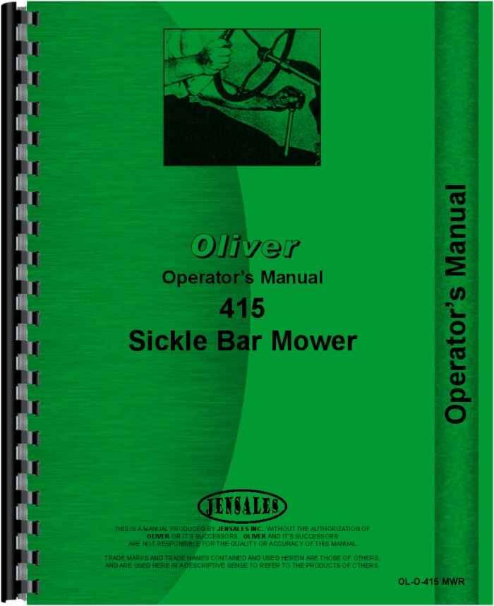 oliver 415 mower operators manual rh agkits com kuhn mower operator's manual craftsman mower operator's manual