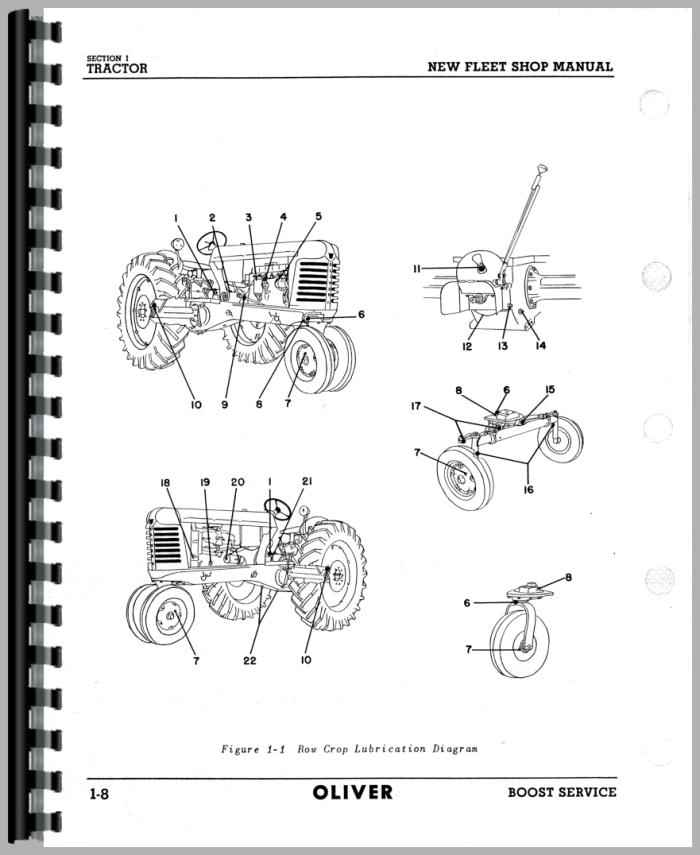 oliver 66 tractor service manual