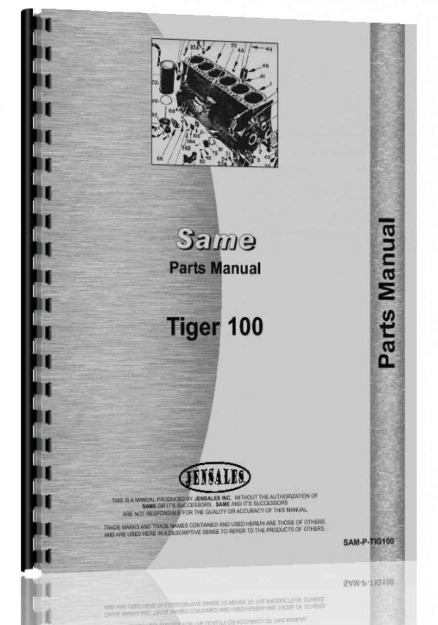 Same Tractor Parts : Same tiger tractor parts manual
