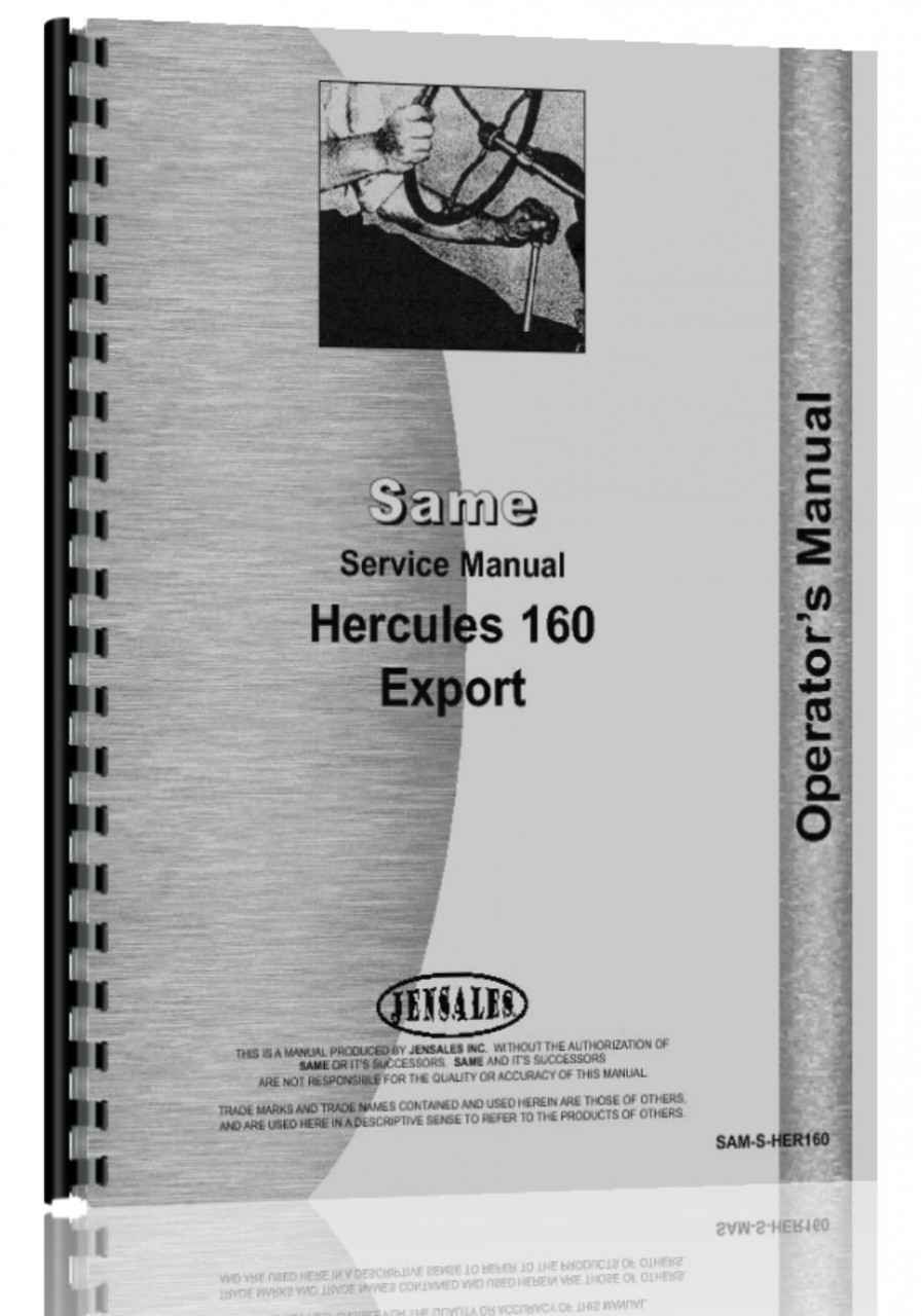 Same Hercules 160 Tractor Service Manual (HTSA-MSHER160)