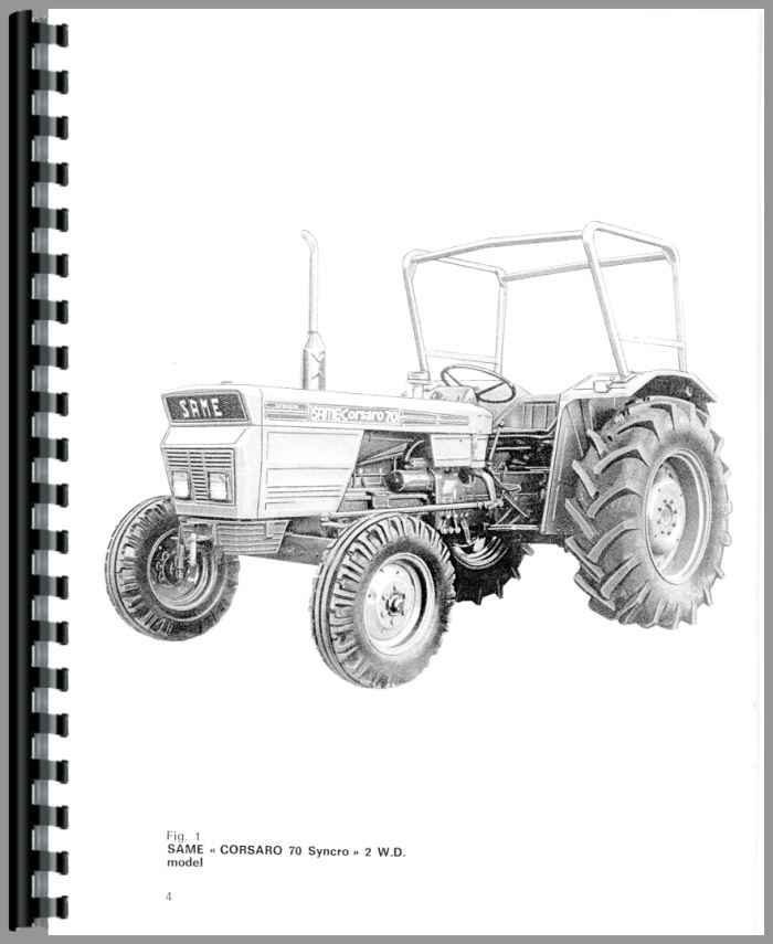 same corsaro 70 tractor operators manual rh agkits com same tractor manual pdf same tractor manual pdf