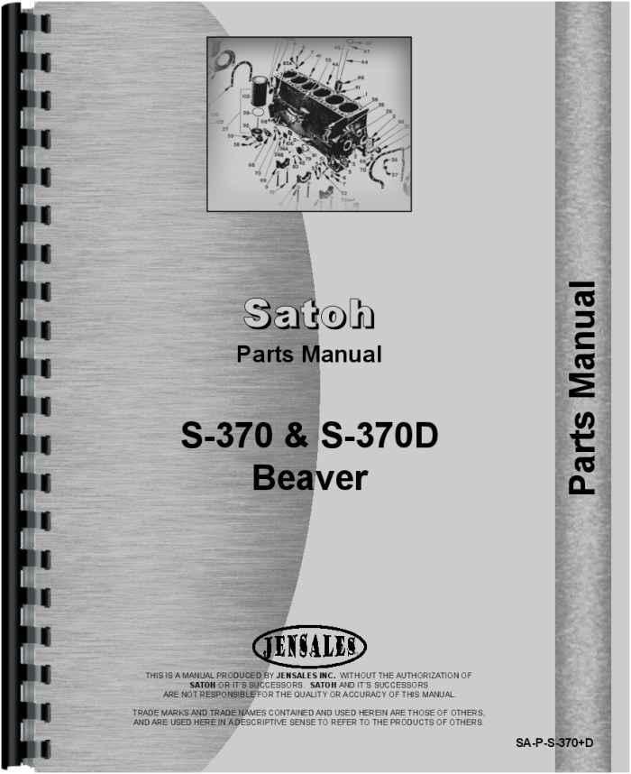 Satoh Steering Parts : Satoh s d tractor parts manual