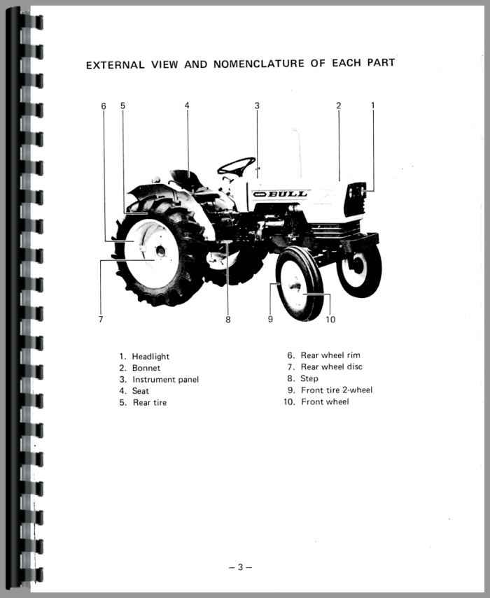 satoh bull tractor operators manual