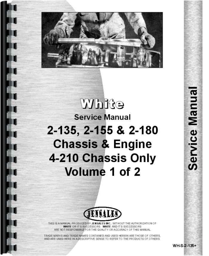 white 2 135 tractor service manual rh agkits com White 2 135 Tractor Discussion White 2 135 Parts