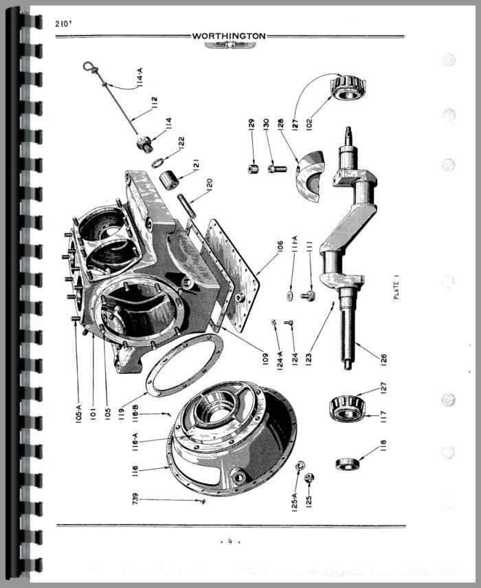 worthington 210 portable air compressor parts manual rh agkits com worthington air compressor spare parts Worthington Natural Gas Compressor Parts