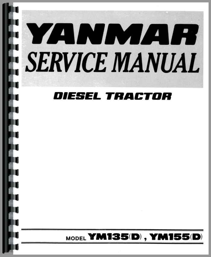yanmar ym155d tractor service manual rh agkits com Tractor Yanmar YM155 Yanmar Backhoe Attachment