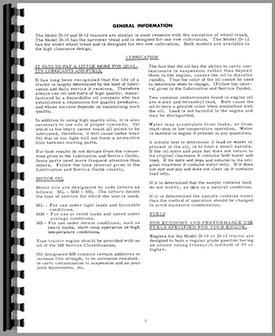 Allis Chalmers D10 Tractor Operators Manual (HTAC-OD10SIII)