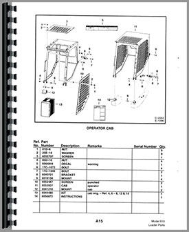 bobcat 610 parts diagram bobcat 610 skid steer loader parts manual