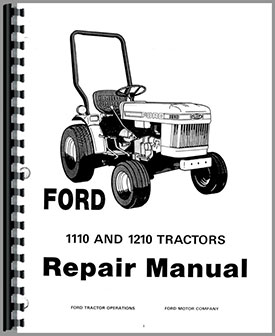 Ford 1110 Tractor Service Manual Htfo S11101210