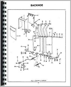 Ford 3550 Backhoe Attachment Parts Manual border=