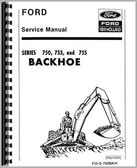 Ford 755 Backhoe Attachment Service Manual border=