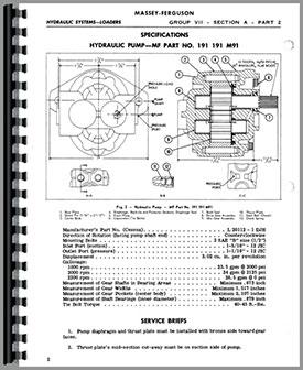 Massey Ferguson 35 Loader Attachment 100 Service Manual Htmh Smf100ldr
