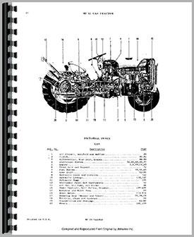 Massey Ferguson 35 Tractor Parts Manual Htmh Pmf35