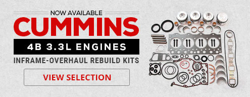 Now Available - Cummins 4B 3.3L Inframe - Overhaul Rebuild Kits - View Selection