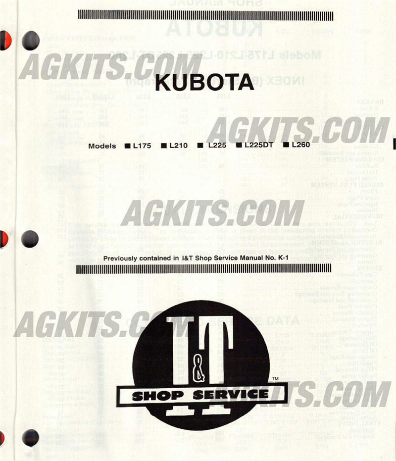kubota shop manual