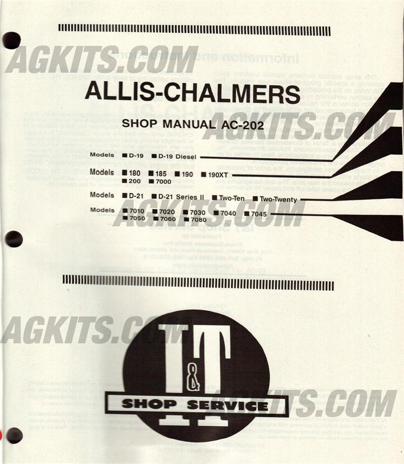 Allis 7000 service manual Free