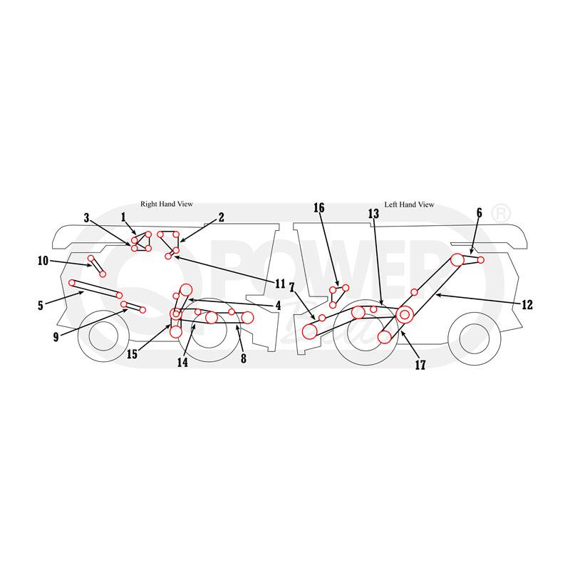 Allis Chalmers - Gleaner L, L2, L3 Combine BeltsAgkits