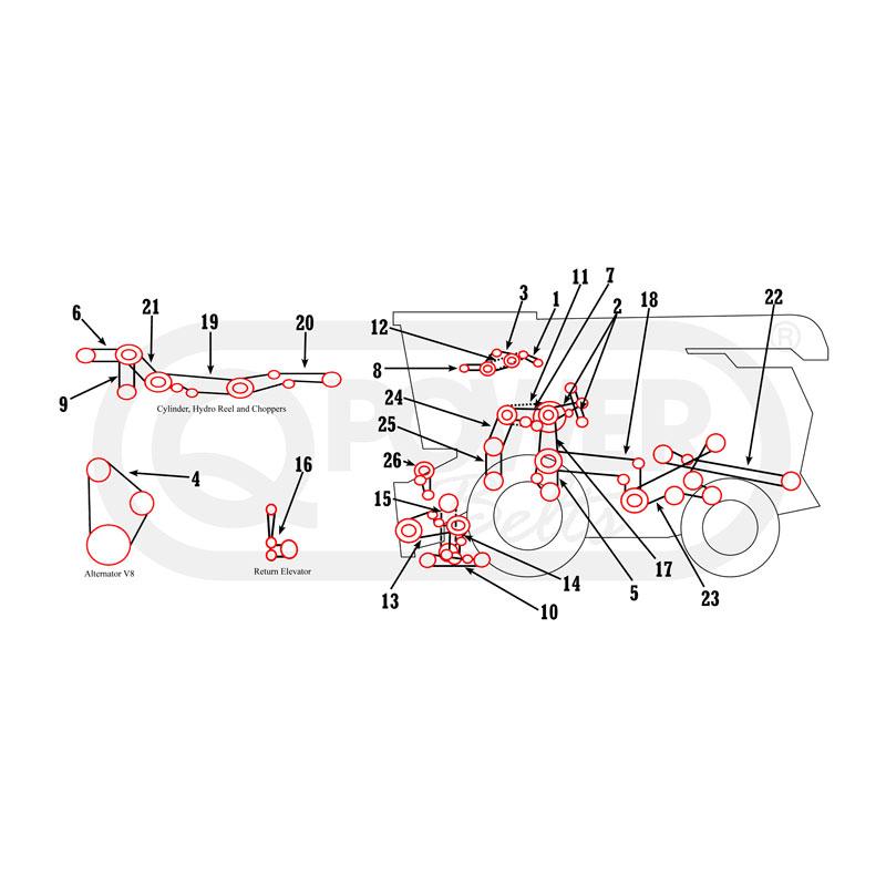 Massey Ferguson 750, 760 Combine Belts