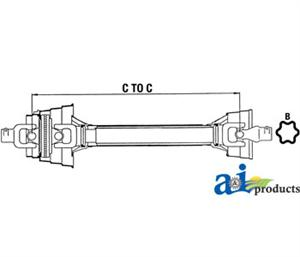 "Agmaster 2580 Series - 48"" Constant Velocity Drive Shaft Assembly (6  / 20 spline)"