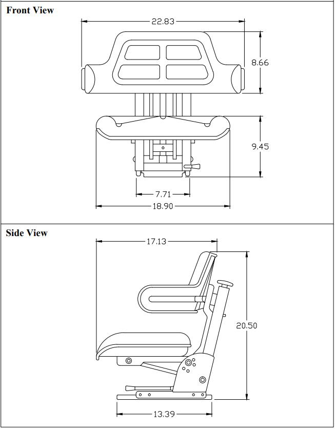 Tractor Seat Dims